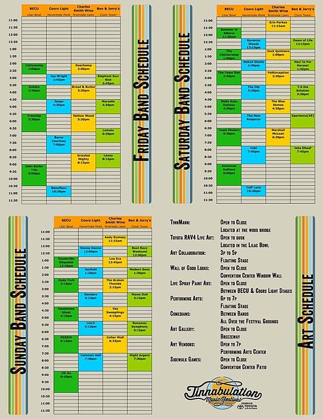 Tinnabulation Schedule